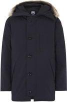 Canada Goose Chateau Navy Fur-trimmed Twill Parka