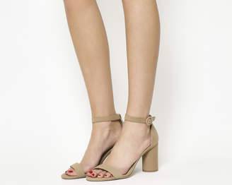 Office Henna Cylindrical Block Heels Nude Nubuck