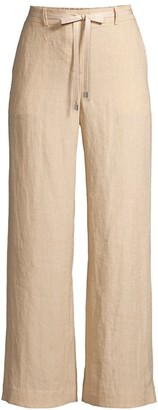 Lafayette 148 New York Columbus Linen Cropped Pants