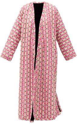 Muzungu Sisters - Tatiana Botanical-print Linen Coat - Pink Multi
