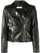 Golden Goose Deluxe Brand Women's Black Leather Outerwear Jacket.