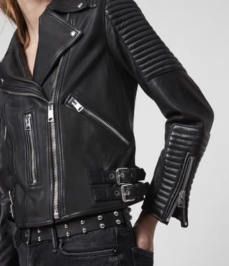 AllSaints Estella Leather Biker Jacket