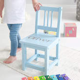 My 1st Years Personalised Blue Wooden Children's Chair