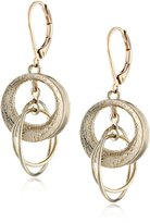 Anne Klein Tone Plated Multi-Disc Drop Earrings