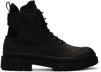 Salvatore Ferragamo Black Tron Boots