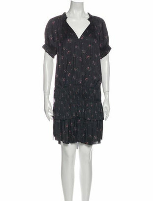 Ulla Johnson Floral Print Knee-Length Dress w/ Tags Black