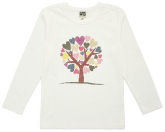 Bonton Heart Tree Long-Sleeved T-Shirt (4-10 Years)