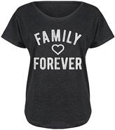 Black Heart 'Family Forever' Tri-Blend Dolman Tee