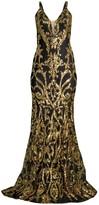 Jovani Contrast Sequin Mermaid Gown