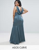 Asos WEDDING Premium Drape Cowl Back Maxi Dress