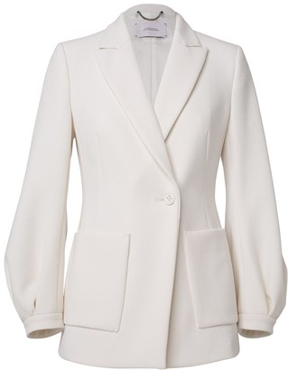 Dorothee Schumacher Sophisticated Perfection Jacket in Canvas White