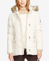 Lauren Ralph Lauren Faux-Fur-Trim Hooded Toggle Down Puffer Coat