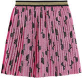 Gucci Silk and lurex pleated skirt