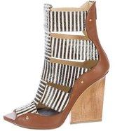 Maiyet Snakeskin Caged Sandals