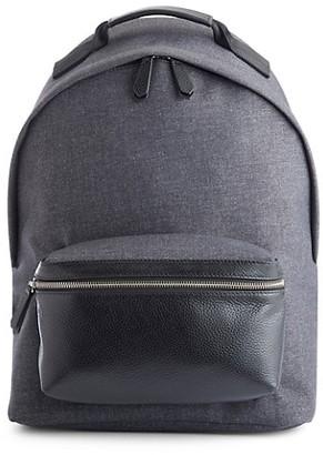 ROYCE New York Mixed-Media Laptop Backpack