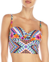 Kenneth Cole Reaction Floral Underwire Bustier Top