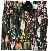 Molo Beatrix Soft Botanic Sweat Skirt, Green/Multicolor