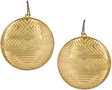 House Of Harlow 1960 Plated Medallion Earrings