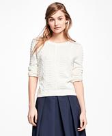 Brooks Brothers Supima® Cotton Popcorn Sweater