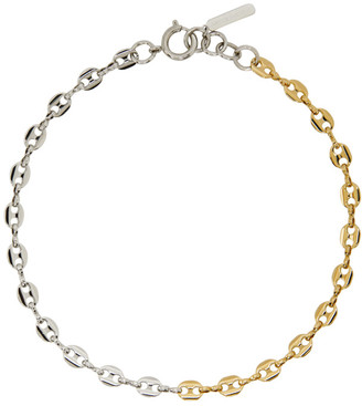 Justine Clenquet Silver and Gold Joy Necklace