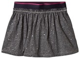 Benetton Jersey Skirt With Micro Shiny Star Print Grey