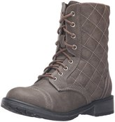 Steve Madden Girls J Talker Little Kid Lace Up Combat Boots Brown