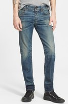 Rag & Bone Standard Issue 'Fit 2' Slouchy Slim Fit Jeans (Distress Blue)