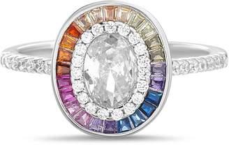 Lesa Michele Multicolor Halo Oval Ring