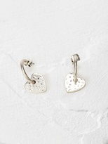 White Stuff Hammered heart hoop earring