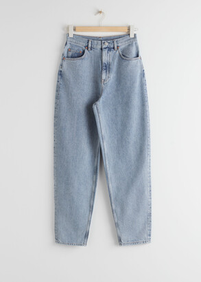 And other stories Tapered Cropped Mid Waist Jeans
