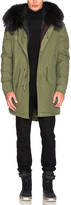 Mr & Mrs Italy Canvas Parka With Rabbit Fur
