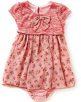 Bonnie Jean Baby Girls 12-24 Months Textured Knit Popover Dress