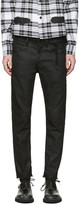 Off-White Black Sprayed Diagonals Cropped Jeans