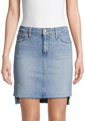 Joe's Jeans Saw Step-Hem Denim Skirt