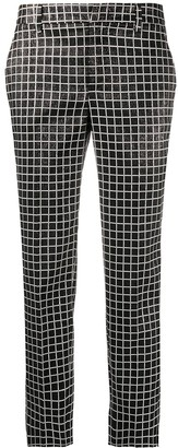 Pt01 Grid Check Cropped Trousers