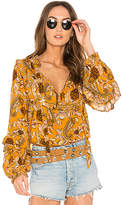 Spell & The Gypsy Collective Etienne Blouse in Mustard. - size Aus 10/US M (also in Aus 6/US XS,Aus 8/US S)