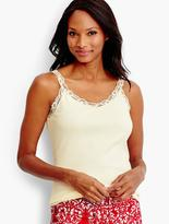 Talbots Lace-Trimmed Knit Tank