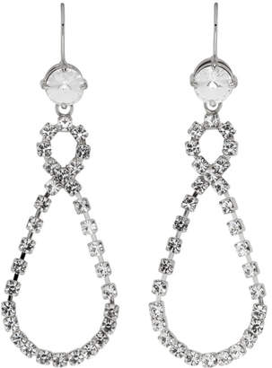 Miu Miu Silver Crystal Drop Earrings