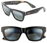 Maui Jim Women's 'You Move Me' 52Mm Polarizedplus2 Sunglasses - Black/ White/ Silk