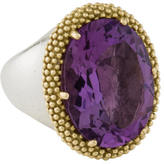 Lagos Two-Tone Amethyst Cocktail Ring