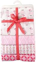 Hudson Baby Flannel Receiving Blankets, Pink Owls by
