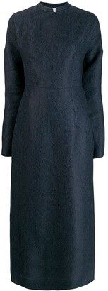 Jil Sander Mandarin Collar Long Dress