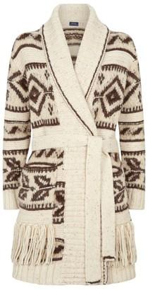 Ralph Lauren Wool-Alpaca Belted Cardigan