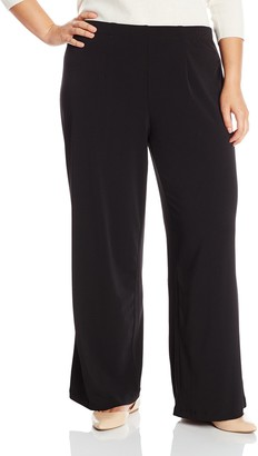 Amy Byer Women's Plus-Size Pull On Knit Easy Wear Flare Leg Pant