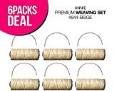 Annie Premium Weaving Set (6-Pack, Beige)