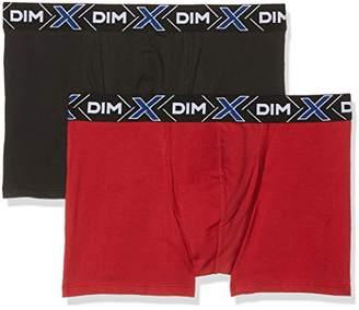 Dim Men's X-Temp Boxer X2 Boy Short, Black Noir, (Size: 6) (Pack of 2)