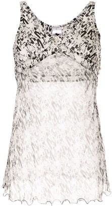 Chanel Pre Owned Camellia Mademoiselle motif sleeveless top