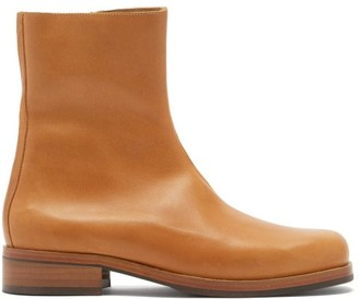 Our Legacy Camion Zipped Leather Boots - Tan