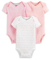 Carter's Child Of Mine By Child of Mine by Baby Girl Short Sleeve Bodysuits, 3-Pack
