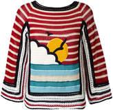 RED Valentino crochet knit jumper